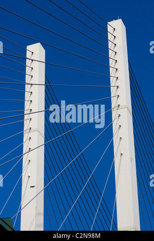 The Queen Elizabeth II Bridge dartford river thames M25 crossing london england uk gb - Stock Photo