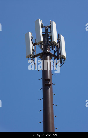 Cell Phone Tower, Central Otago, South Island, New Zealand - Stock Photo