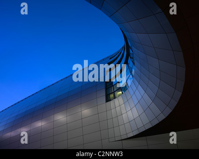 Dublin Airport, Terminal 2. Exterior of walkway. - Stock Photo