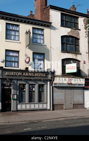 The Burton Arms Hotel in the Northern Quarter district of the centre of Manchester. - Stock Photo