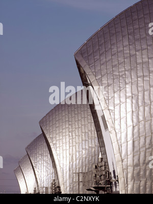 Thames Barrier, Greenwich London. Detail. - Stock Photo
