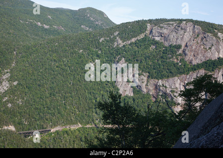 Crawford Notch State Park - Mount Willard in the White Mountains, New Hampshire USA - Stock Photo