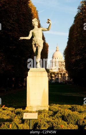 Statue 'L'acteur grec' in Jardin du Luxembourg in Paris. - Stock Photo