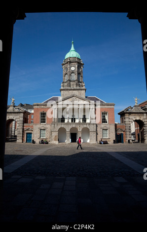 The Bedford Tower and front Courtyard, Dublin Castle, Dublin City, Ireland - Stock Photo