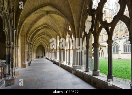 Cloisters of the Cathedral Sainte Marie, Bayonne (Baiona), Cote Basque, Southern France - Stock Photo