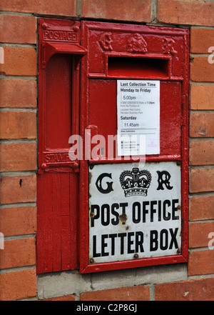 Letter box in Ratby, Leicestershire, England, UK - Stock Photo