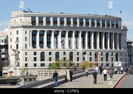 Unilever House headquarters building seen from Blackfriars Bridge City of London England UK - Stock Photo