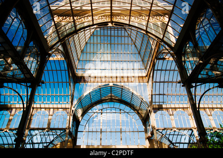 Palacio de Cristal, Madrid, Spain - Stock Photo