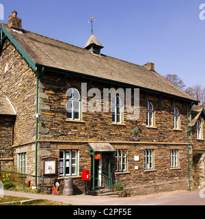 Old English village shop and Post Office, Town End, Troutbeck, Cumbria, UK - Stock Photo