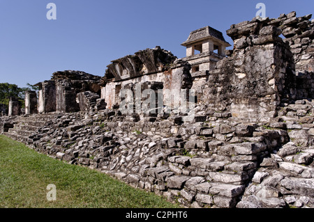 Ruins of the Palace in Palenque, Chiapas, Mexico - Stock Photo
