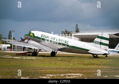 Douglas C-53 Skytrooper (DC-3A) at Marathon Airport, Florida, USA - Stock Photo