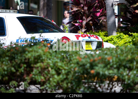 A police car parked on the street, South Beach, Miami, Florida, USA. - Stock Photo