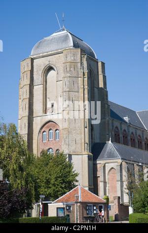 Grote Kerk. Veere church. Veere, Zeeland, Netherlands - Stock Photo