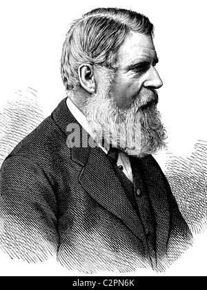 Sir Stafford Northcote, 1st Earl of Iddesleigh, 1818-1887, British statesman, historical illustration, about 1886 - Stock Photo