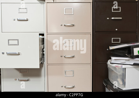 Untidy Office With Messy File Cabinets Stock Photo Royalty Free - Funky filing cabinets
