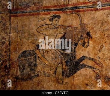 Fresco wall mural painting umayyad palace qasr al hayr al for Alabama wall mural