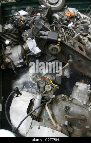 spare parts for sale at vintage car show event - Stock Photo
