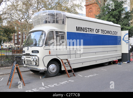 Mobile Cinema Soho square Ministry of Technology films movies 1950s - Stock Photo