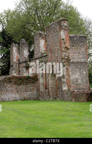 The Remains of Sopwell House on the Site of a Benedictine Nunnery, Cottonmill Lane, St Albans, Hertfordshire, UK. - Stock Photo