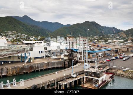 Port of Picton, South Island, Marlborough, New Zealand. - Stock Photo