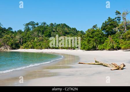 Pristine beach at Manuel Antonio National Park, Puntarenas Province, Costa Rica - Stock Photo