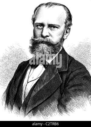 Julius Wolff, 1834-1910, German poet and writer, historical illustration, circa 1886 - Stock Photo