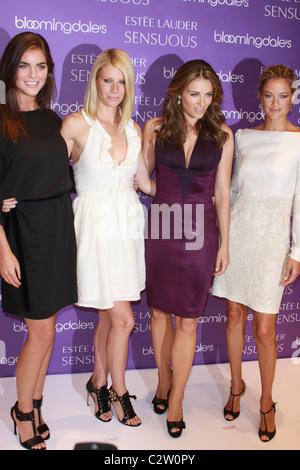 Hilary Rhoda, Gwyneth Paltrow, Elizabeth Hurley and Carolyn Murphy Estee Lauder Spokesmodels appear at Bloomingdales - Stock Photo