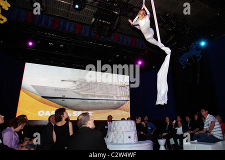 Royal Caribbean's Oasis of the Seas neighborhood reveal ceremony at the Nokia Theatre. The MS Oasis of the Seas - Stock Photo