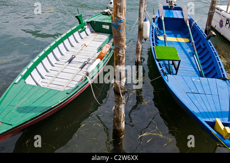 Wooden fishing boats at Monte Isola on Lake Iseo - Stock Photo