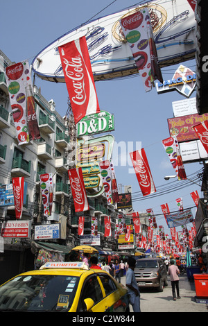 Khao San road in Bangkok , Thailand - Stock Photo
