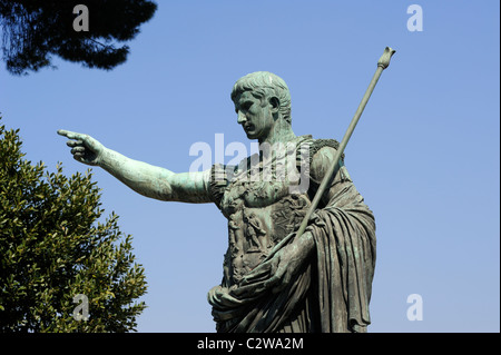 italy, rome, statue of augustus - Stock Photo