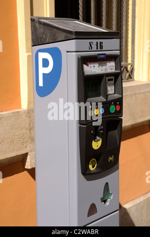 italy, rome, parking meter - Stock Photo