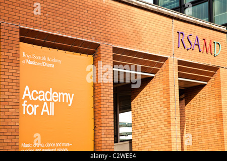 The Royal Scottish Academy of Music and Drama (RSMAD). The current building on Renfrew Street in the city centre - Stock Photo
