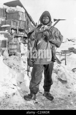 Edgar Evans (1876 - 1912) - a member of Robert Scott's Terra Nova Expedition that perished after reaching the South - Stock Photo