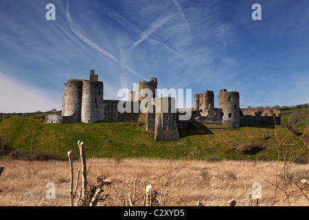 Kidwelly Castle, Carmarthenshire, West Wales, UK - Stock Photo