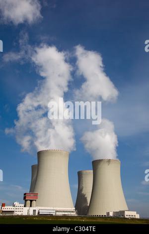 Czech Republic, Temelin nuclear power plant - Stock Photo
