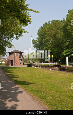 Bulholme Lock on the  Aire and Calder Navigation - Stock Photo
