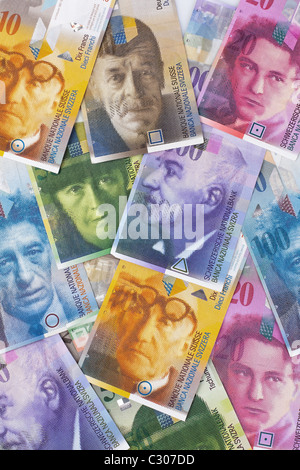 Paper currency from switzerland - Stock Photo