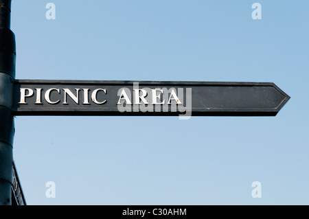 Sign to Picnic Area - Stock Photo