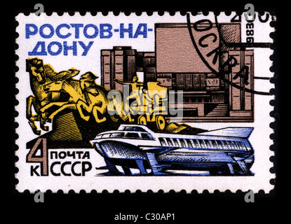 RUSSIA-CIRCA 1983:A stamp printed in RUSSIA shows image of the Rostov-on-Don is a city and the administrative center - Stock Photo