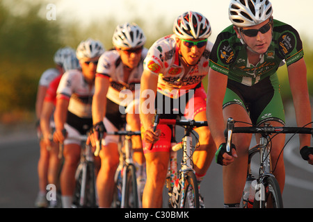 SCOTTSDALE, AZ - OCTOBER 2: Cyclists compete in the Scottsdale Cycling Festival Criterium on October 2, 2010 in - Stock Photo