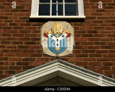 Canterbury Kent England Crest Above Door On Building - Stock Photo