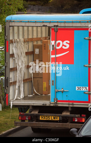 Argos Home Delivery Van In A Street With Rear Door Open And Man Stock Photo Royalty Free Image