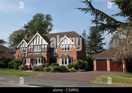 A modern detached executive house in the U.K. - Stock Photo