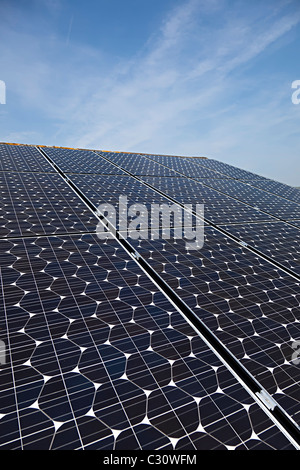 Sanyo Solar Pv Photovoltaic Panels On House Roof Wales Uk