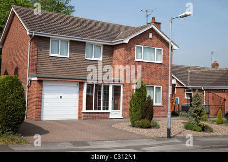 A large detached house in Nottingham England UK - Stock Photo