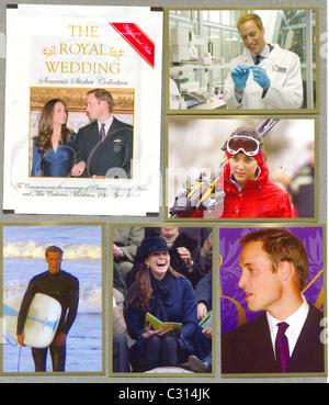 Souvenir Sticker Collection to Celebrate the Royal Wedding - Stock Photo