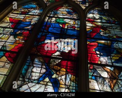 Stained glass window in Cathédrale Notre-Dame de Senlis Oise France