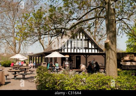 The Honest Sausage pub in Regents Park,London,England - Stock Photo