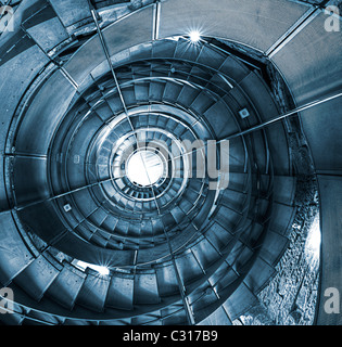 Spiral staircase @ The Lighthouse, Glasgow - Stock Photo